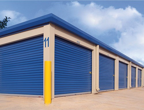 Roll-up sheet doors for mini warehouse